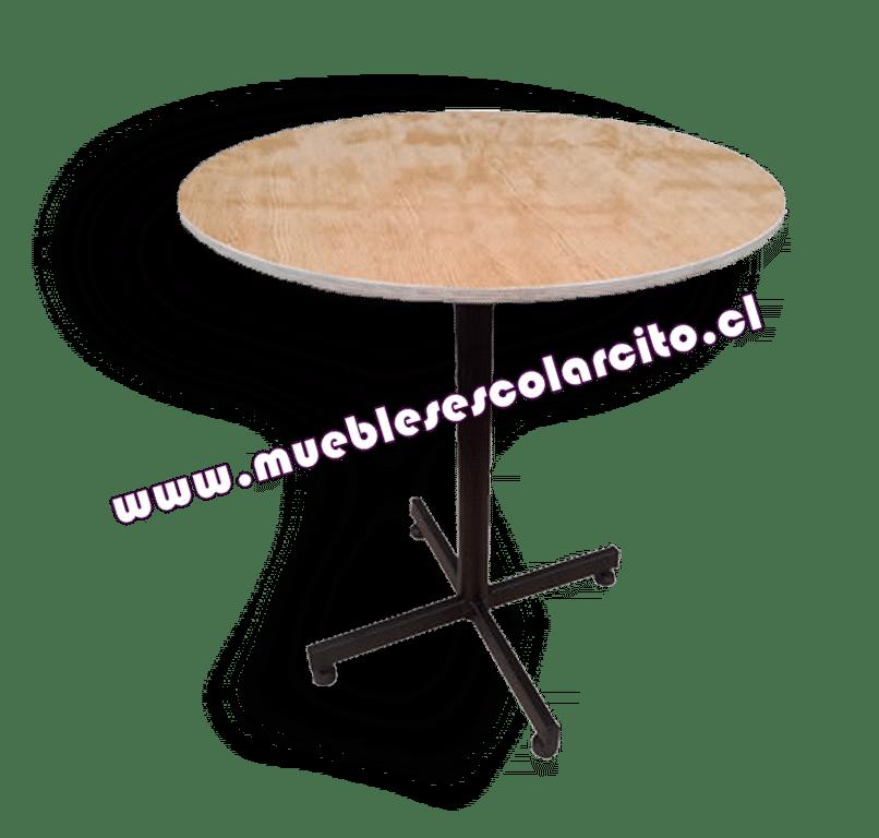 Mesa Escolar Ciculalar con Pedestal Pintada
