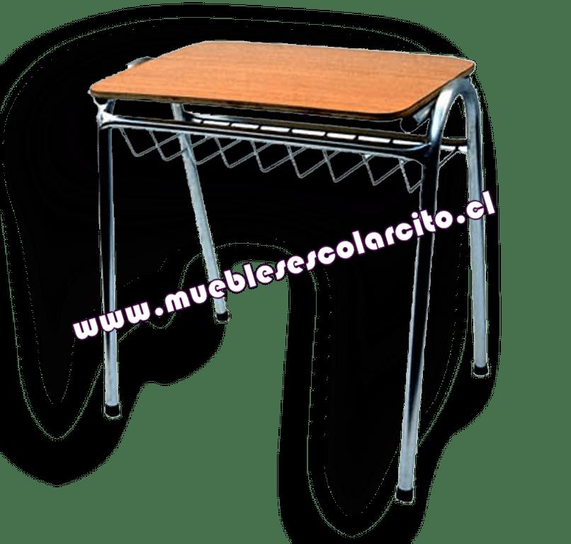 Pupitre Universitario Unipersonal Standard Nº1 Zincado