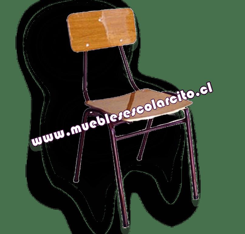 Silla Escolar Standard Con Refuerzo Nº1 Pintada