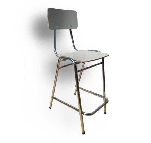 silla laboratorio con reposa pies